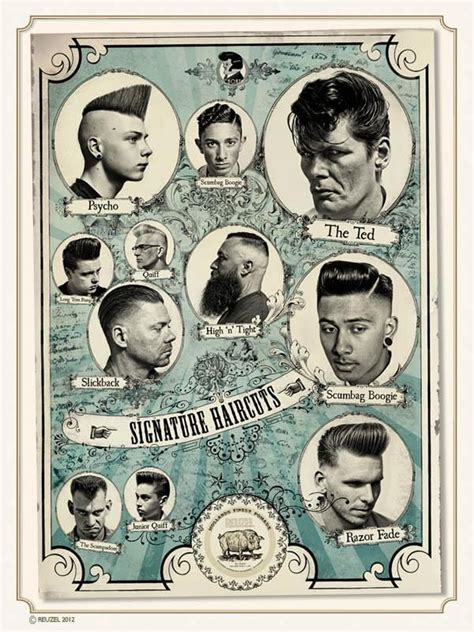 drawings of 1950 boy s hairstyles 14 best barbershop classic signature haircut images on