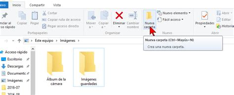 carpeta imagenes windows 10 c 243 mo crear una nueva carpeta en windows 10 tecnicomo