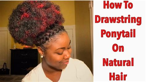 hump and drawstring ponytail tutorial youtube how to drawstring ponytail on natural hair retro puff