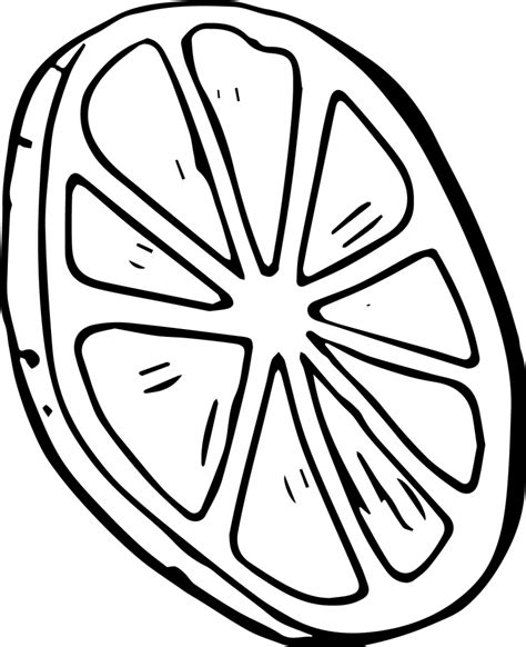 coloring page of lemongrass lemon coloring page 6070