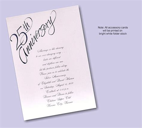 25th anniversary invitation card templates wedding invitation wording 25th wedding anniversary