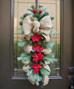 country christmas swag burlap swag holiday wreath burlap