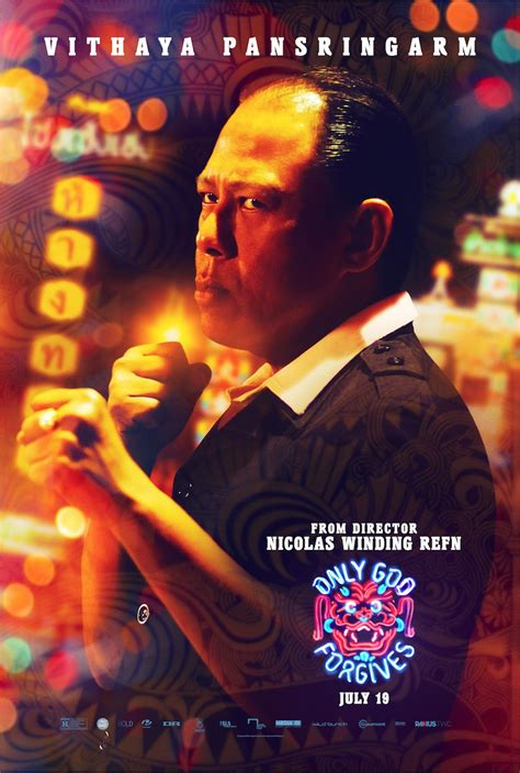 seven new character posters for nicolas winding refn s only god forgives character poster
