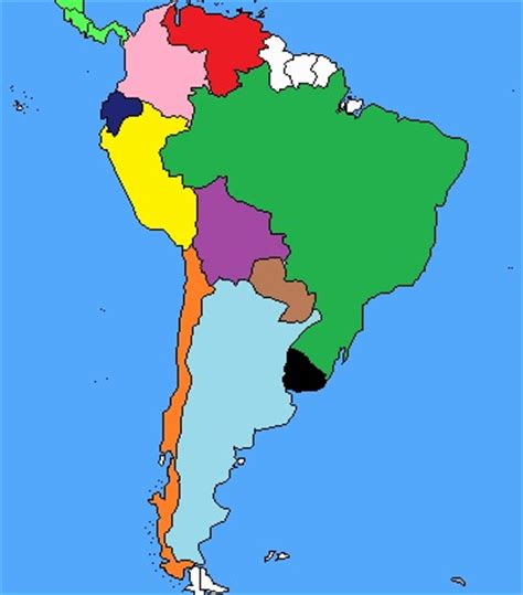 south america map with names south america map quiz by survivor marc