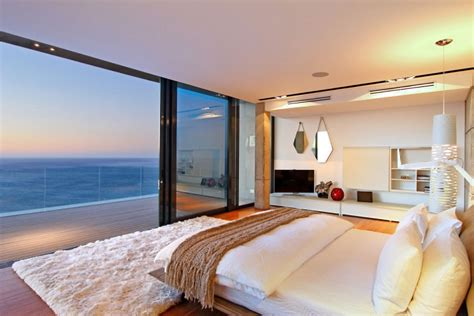amazing bedroom views villa built into the mountain with full ocean views from