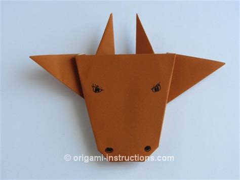 Origami Information - origami bull found here info