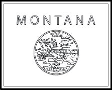 montana state pages coloring pages