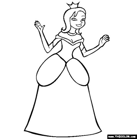 easy princess colouring pages
