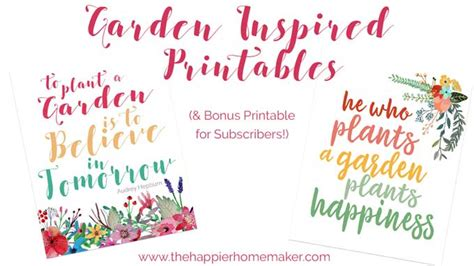 printable garden quotes free garden quote printable art easy diy decorating idea