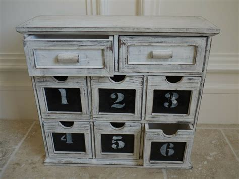 chest with shelves vintage shabby chic 8 drawer cabinet storage box unit apothecary chest ebay