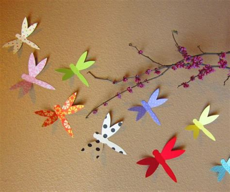 Handmade Things For Room - items similar to dainty dragonfly handmade paper wall
