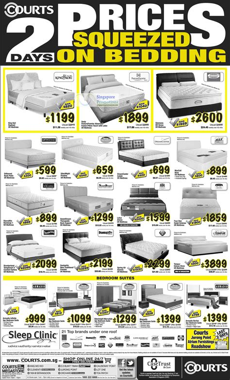 Simmons Mattress Singapore Price by Mattresses King Koil Sealy Simmons Maxcoil Four
