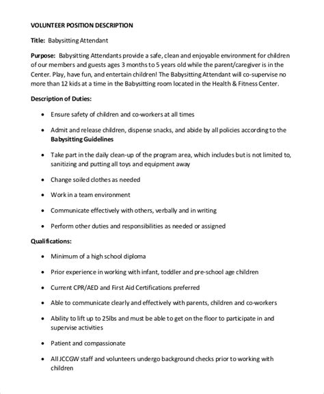 Responsibilities Of A Babysitter For Resume 50 Best Templates