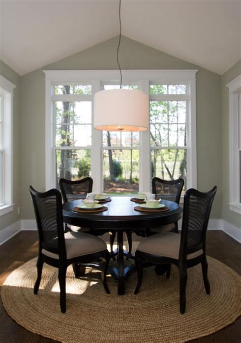 round rugs for dining room benjamin moore prescott green dining room with drum