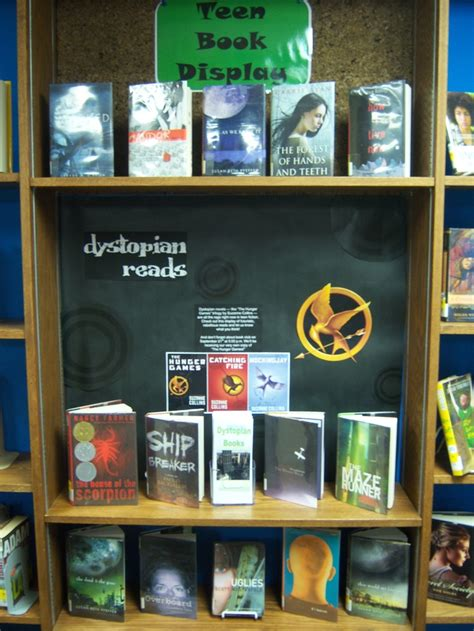 books for display dystopian reads teen book display teen book displays pinterest teen books