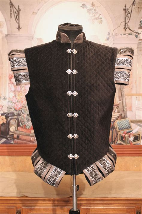 Quilted Doublet by Midnight And Moonlight Doublet Faire Finery
