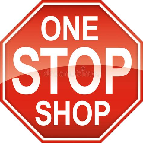 one stop bathroom shop one stop shop sign symbol stock illustration illustration