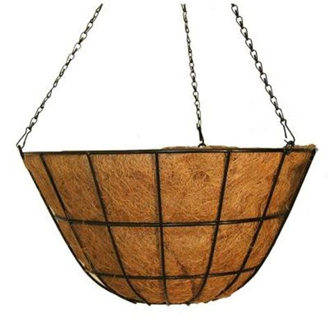 hanging planter basket vigoro 20 in metal coco hanging basket hbgrd20vg the