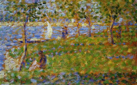 seated model side view 1887 georges seurat oil sailboat 1884 georges seurat wikiart org