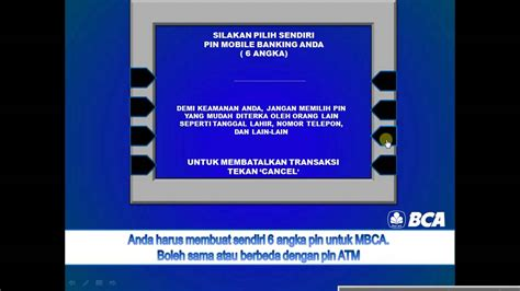 Mesin Atm cara daftar mobile banking bca m bca di mesin atm