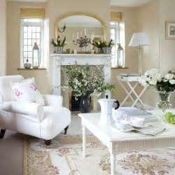 Classic country living room neutral living rooms white