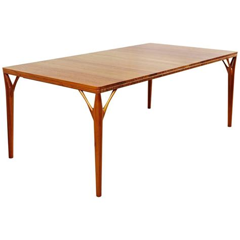 Solid Teak Dining Table Solid Teak Dining Table Handmade In Style Of 1950s Design For Sale At 1stdibs