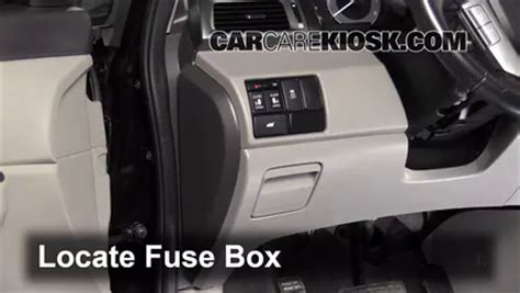 interior fuse box location: 2011 2016 honda odyssey 2011