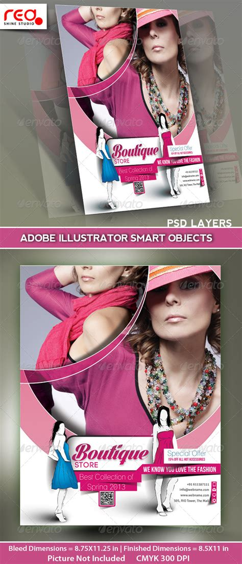 boutique flyer template free boutique store flyer poster magazine template graphicriver
