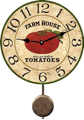 Wholesale Vintage Home Decor by Farmhouse Tomato Tomatoes Wall Clock Country Kitchen Wall