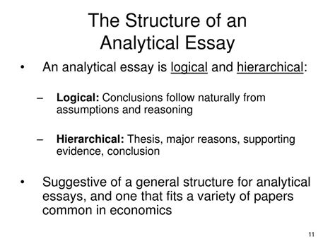 Economics Essay Structure by Ppt The Analytical Essay Powerpoint Presentation Id 159237