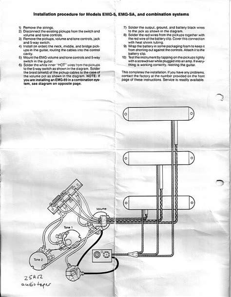 emg hz wiring diagram les paul wiring diagram and schematics