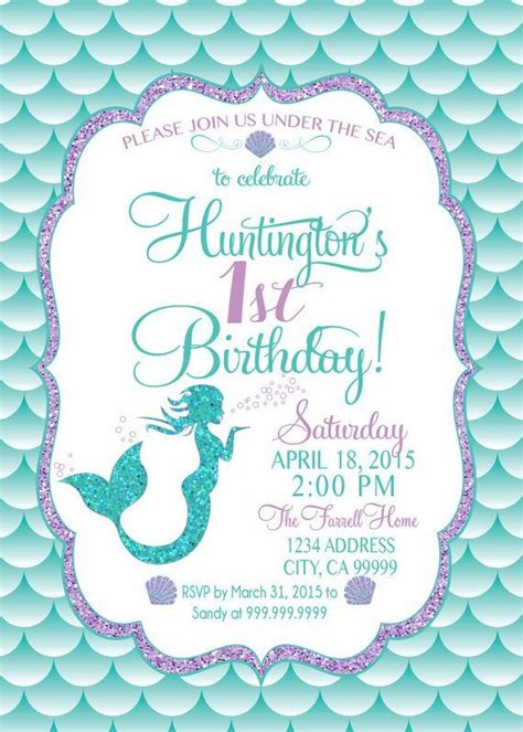 free mermaid invitation template best 20 mermaid invitations ideas on