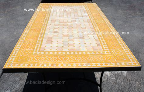 Mosaic Table L Outdoor Furniture Moroccan Tiles Los Angeles