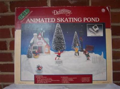 1995 lemax village christmas collection animated skating pond 54106 w box ebay