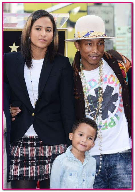 is pharell william wife ethiopian pharrell williams wife and son watch him get star on