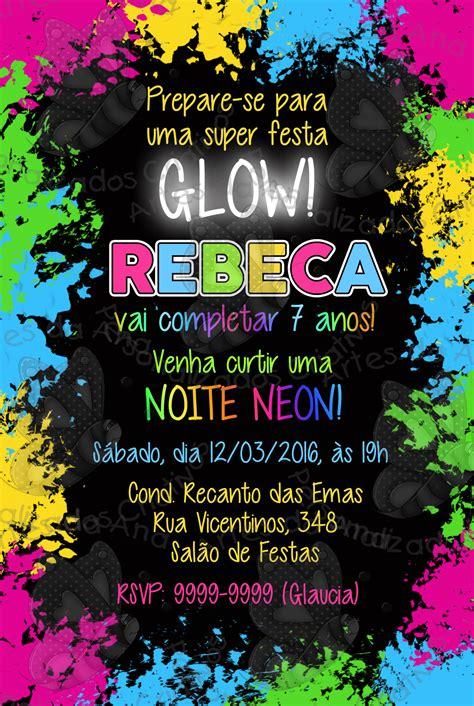 Modelo De Convite Para Festa Photoshop E Arte Convites Modelo De Convite Para Festa Convite Festa Neon Artes Da