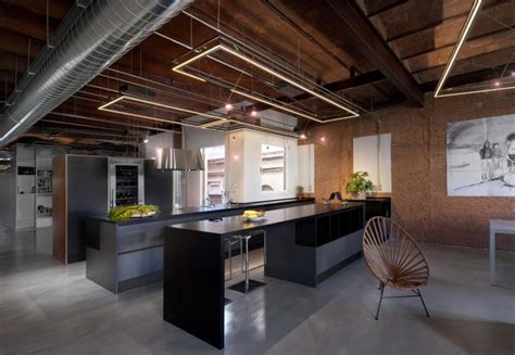 industrial modern apartment interior design troondinterior industrial lighting installation for the modern apartment