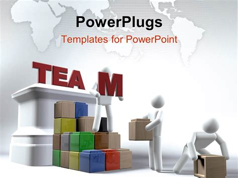 team powerpoint templates free powerpoint template various working as a team 28754