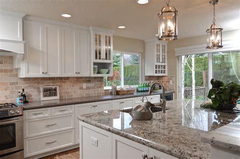 awesome large porcelain tile kitchen countertops kitchen cabinets design kitchen bar awesome kitchen with white shaker kitchen cabinets and porcelain tile backsplash