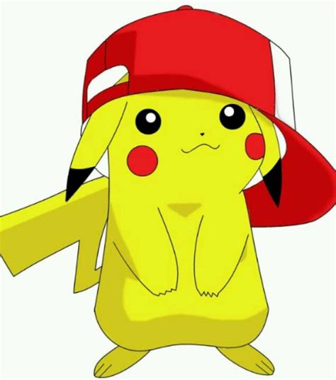cute pikachu cute pikachu with hat by pikachu wearing ashes hat pokemon stuff 3 pinterest