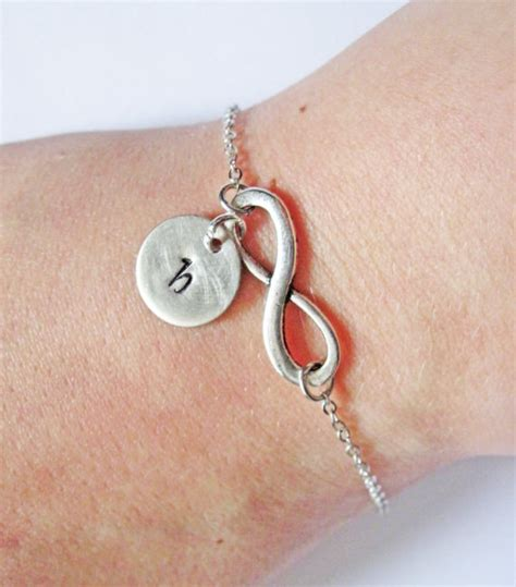 personalized infinity bracelet with initials infinity