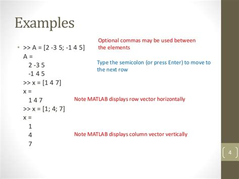 array tutorial construct 2 matlab arrays and matrices