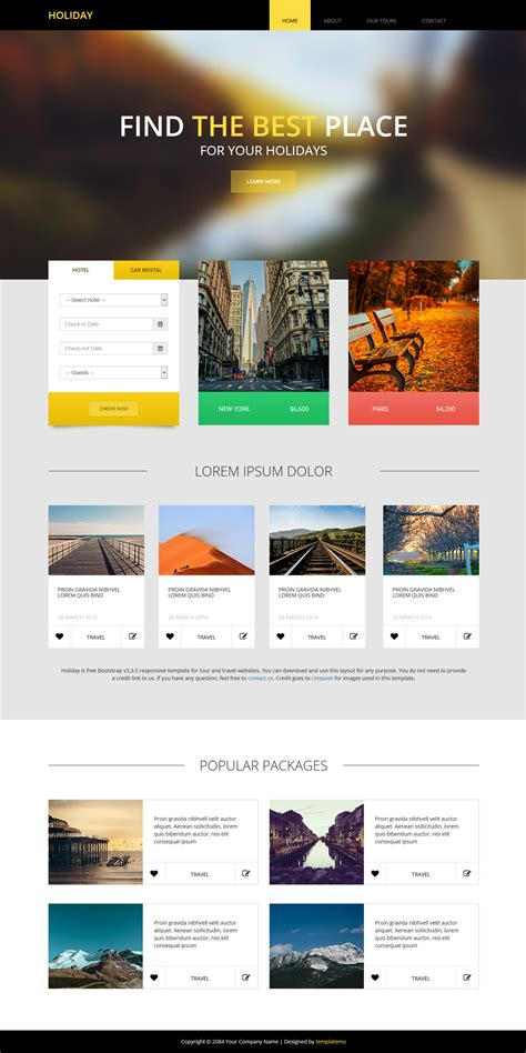 bootstrap themes for photo gallery template 475 holiday