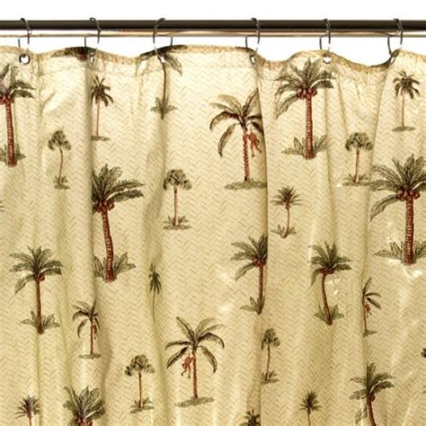 palm tree shower curtain product image