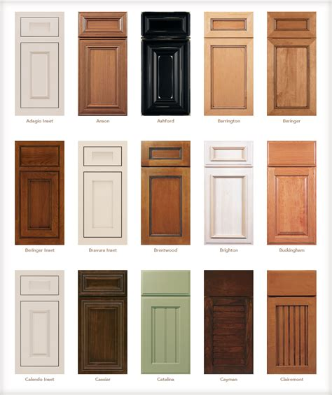 different types of kitchen cabinets kitchen cabinet door styles names
