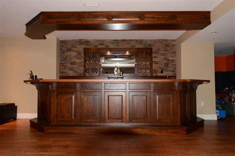 custom bars rustic basement toronto by brice s