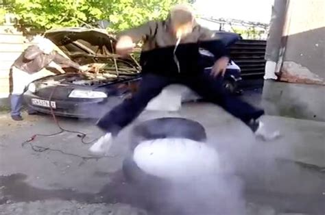 Airbag Prank by He Wasn T Ready Car Airbag Prank Had Him Flying