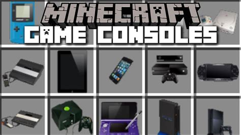 game console mod minecraft minecraft game consoles mod play with xbox one and more