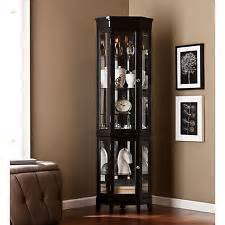 Black Curio Cabinet With Light Lighted Curio Cabinet Ebay