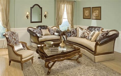 Salvatore Antique Style Button Tufted Living Room Sofa Set | salvatore antique style button tufted living room sofa set